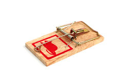 Mouse trap. Studio image of a mouse trap, isolated on white Royalty Free Stock Photography