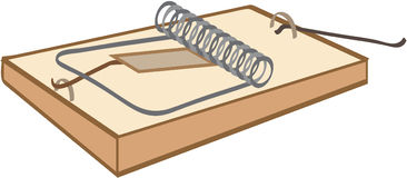 Mouse-trap. (vector isolated object Stock Image