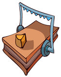 Mouse Trap with Cheese, Vector Illustration. Royalty Free Stock Photos