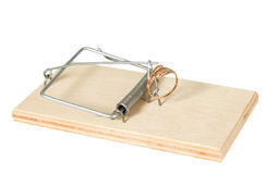 A mouse trap with golden ring Stock Photo