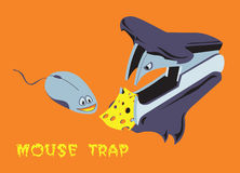 Mouse trap illustration Stock Photo