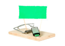 A mouse trap with portable driver Stock Images