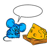 Mouse trap riskiness cheese Stock Images