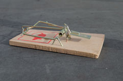 Mouse trap. Mouse wood trap or rat trap its ready to use in full power Stock Photography