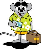 Mouse Travelling stock photography