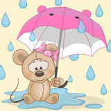 Mouse with umbrella Royalty Free Stock Photos