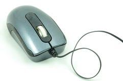 Mouse usato del calcolatore isolato su bianco immagine stock