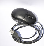 Mouse usb type, with scroll function and left and right click. Handy usb mouse that can be used with a computer desktop or with a laptop. Just plug in and away royalty free stock photo