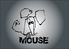 Mouse vector Royalty Free Stock Photography