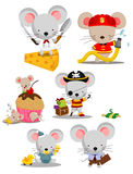 Mouse Vector Set Royalty Free Stock Images