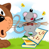 Mouse violinist Royalty Free Stock Photos