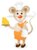 Mouse waiter Royalty Free Stock Photography