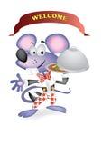 Mouse waiter Stock Photo