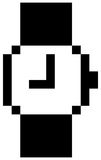 Mouse watch icon. Computer watch icon pixel art vector illustration