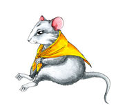 Mouse wearing yellow shawl Royalty Free Stock Images