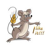 Mouse and wheat Stock Photo