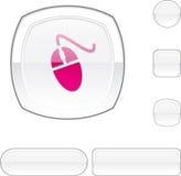 Mouse white button. Stock Photo
