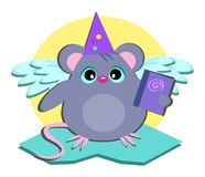 Mouse Wizard with Book Royalty Free Stock Photo