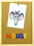 Mouse word on a corkboard Royalty Free Stock Photography