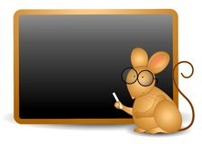 Mouse Writing on Chalkboard Royalty Free Stock Photos