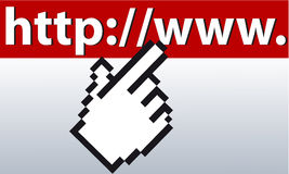 Mousefinger sur l'URL Images stock