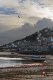Mousehole in Cornwall. The town of Mousehole in Cornwall Royalty Free Stock Photo