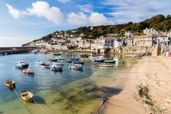 Mousehole Cornwall England. Beautiful summers day at Mousehole Harbour near Penzance Cornwall England UK Europe Royalty Free Stock Photography