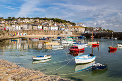 Mousehole Cornwall England. Beautiful summers day at Mousehole Harbour near Penzance Cornwall England UK Europe Stock Photos