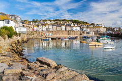 Mousehole Cornwall England. Beautiful summers day at Mousehole Harbour near Penzance Cornwall England UK Europe Royalty Free Stock Photo