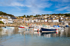 Mousehole Cornwall England. Beautiful summers day at Mousehole Harbour near Penzance Cornwall England UK Europe Royalty Free Stock Image
