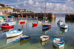 Mousehole Cornwall England. Beautiful summers day at Mousehole Harbour near Penzance Cornwall England UK Europe Stock Photo