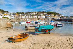 Mousehole Cornwall England. Beautiful summers day at Mousehole Harbour near Penzance Cornwall England UK Europe Royalty Free Stock Photos