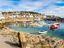Mousehole Cornwall England. Beautiful summers day at Mousehole Harbour near Penzance Cornwall England UK Europe Stock Image