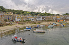 Mousehole Cornwall England. Image taken of an early evening at mousehole Harbour near Penzance Cornwall England UK Europe Stock Photos
