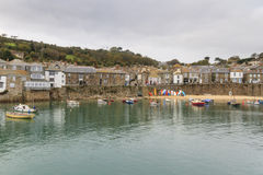 Mousehole cornwall. Historic fishing harbour Mousehole Cornwall England UK Stock Photos