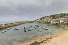 Mousehole cornwall. Historic fishing harbour Mousehole Cornwall England UK Royalty Free Stock Photography