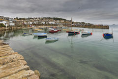 Mousehole cornwall. Historic fishing harbour Mousehole Cornwall England UK Stock Images