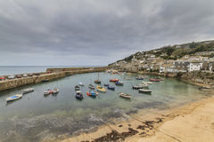 Mousehole cornwall. Historic fishing harbour Mousehole Cornwall England UK Stock Image