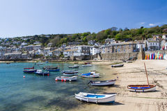 Mousehole Cornwall UK. MOUSEHOLE, CORNWALL, UK - APRIL, 20 2017. The small fishing village of Mousehole in Cornwall, UK is a popular, picturesque travel Stock Photos