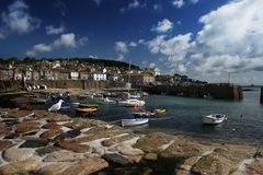 Mousehole Harbor In Cornwall UK Royalty Free Stock Photography