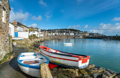 Mousehole Harbour. The harbour at Mousehole in Cornwall, a traditional fishing village near Penzance Royalty Free Stock Photo