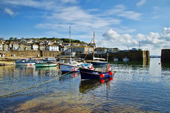Mousehole Harbour ~ Cornwall. Mousehole Harbour in Cornwall on a May morning Stock Photos