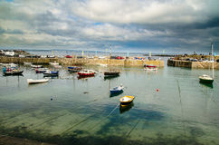 Mousehole Harbour. In Cornwall, southwest UK Stock Photos