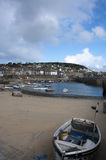 Mousehole harbour at Low Tide Royalty Free Stock Photos