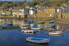 Mousehole harbour. A view of Mousehole harbor in West Cornwall Royalty Free Stock Images