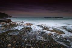 Mousehole island sunset. Royalty Free Stock Image