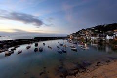 Mousehole Sunrise Cornwall. Morning Sunrise at Mousehole Cornwall South West Coast UK Stock Images