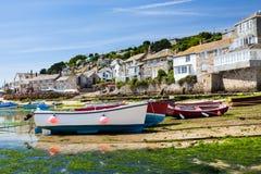 Mouseholehamn Cornwall England Arkivbild