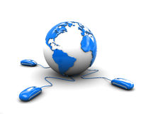 mouses глобуса земли компьютера иллюстрация штока