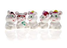 Mouses alegres de la porcelana Imagen de archivo